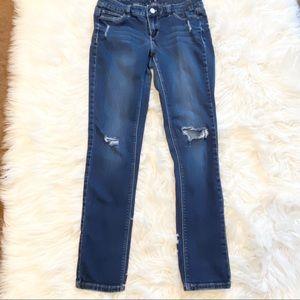 WHBM Distressed Skinny Jean Size 2
